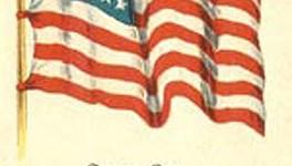 Vintage Patriotic American Flag Postcard