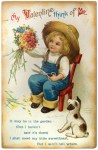 Ellen Clapsaddle Cute Vintage Farm Boy Valentine Postcard
