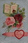 Vintage Valentine Postcard of Roses