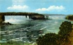 Vintage Niagara Falls Postcard View of the Horsehoe and American Falls