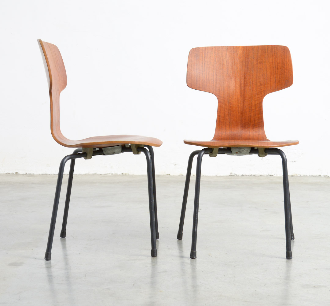 Rare Childrens Bent Plywood Chairs by Arne Jacobsen for