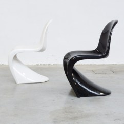 Panton S Chair Without Arms Stackable Chairs By V For Herman Miller Vintage Design Point