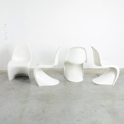 Vernon Panton Chair High Table Chairs Set Of 4 Stackable S By Verner For Herman Miller 1973