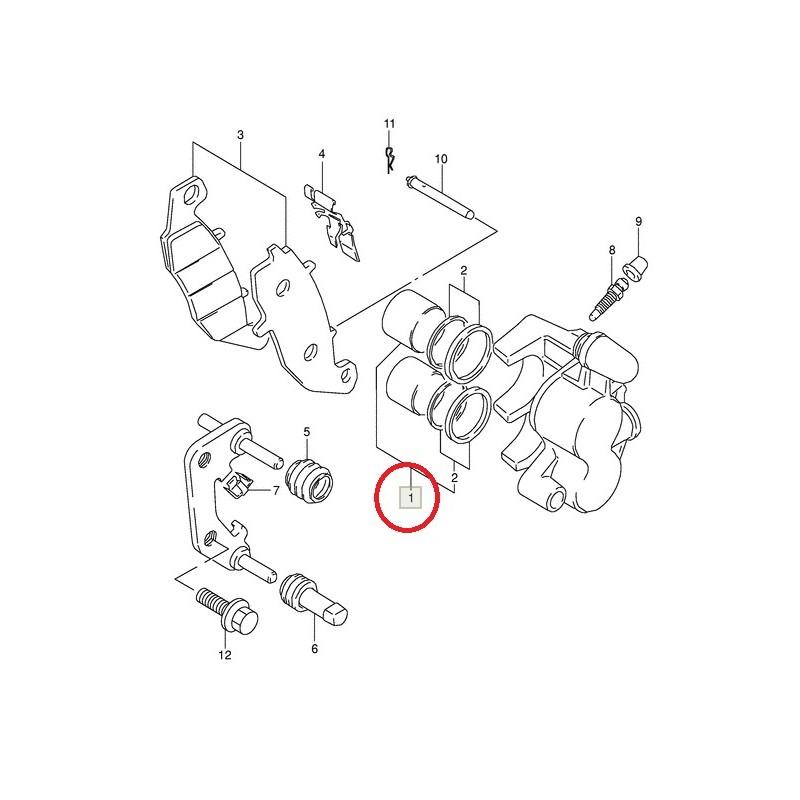 Pistons d'étrier de frein avant pour Suzuki DR800 GS500