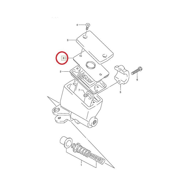 Joint de bocal liquide de frein pour Suzuki GSF250 GSF400