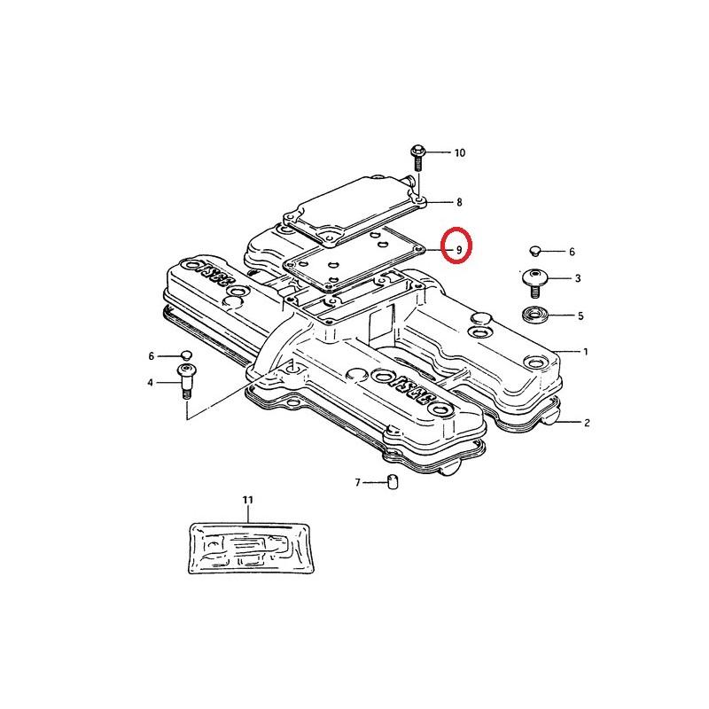 Joint de couvercle de reniflard pour Suzuki GS1150 85-86