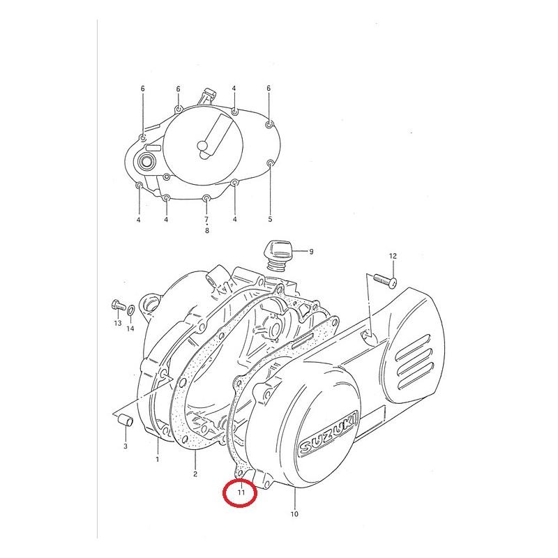 Joint carter d'alternateur pour Suzuki DS80 PV50 RM50 TS50