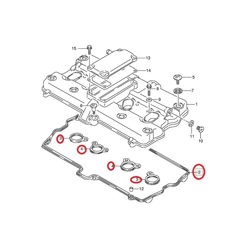 Kit joints cache culbuteur Suzuki GSF600 GSX-R750 GSX750