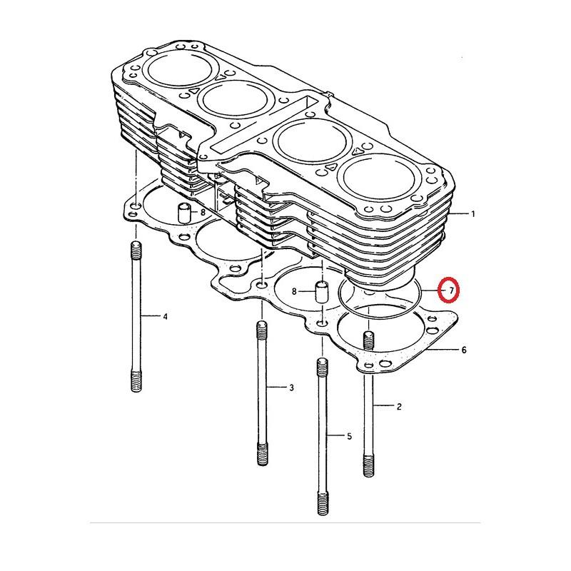 Joint de cylindre Suzuki GS1150 85-86 GSX1100 84-86