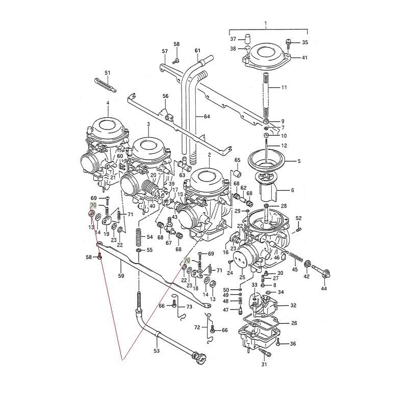 Ressort de carburateur pour Suzuki DR750 DR800 DL1000