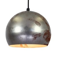 Set of 10 decorative rusty metal globe pendant lights from ...