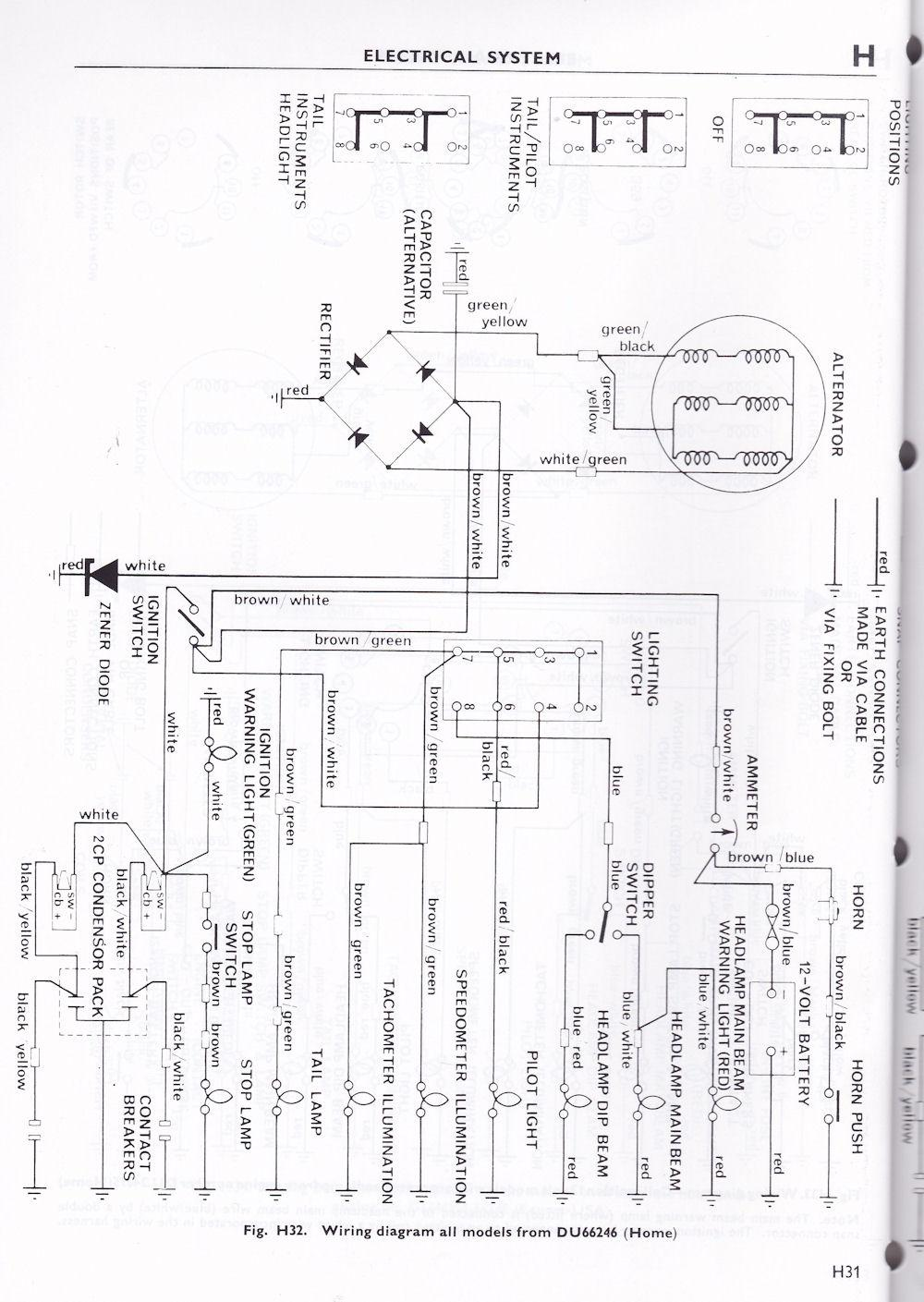 hight resolution of wiring diagram triumph 6t tr6 t120 1963 70