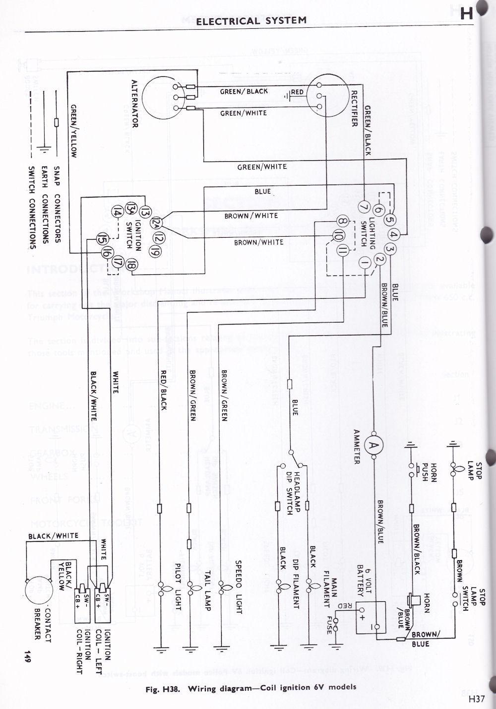 Triumph T120 Wiring Diagram Wiring Diagram Triumph 6t Tr6 T120 1963 70 British