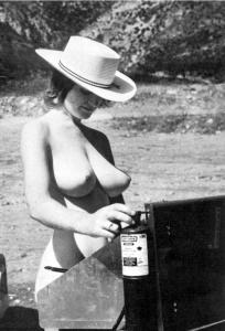 Topless Cow Girl