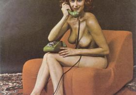 Retro Nude on Telephone