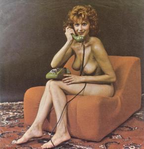 Retro Nude on Telephone