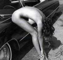 Early Yoga pose with car