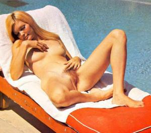 Lillian Parker as a blonde by the pool!