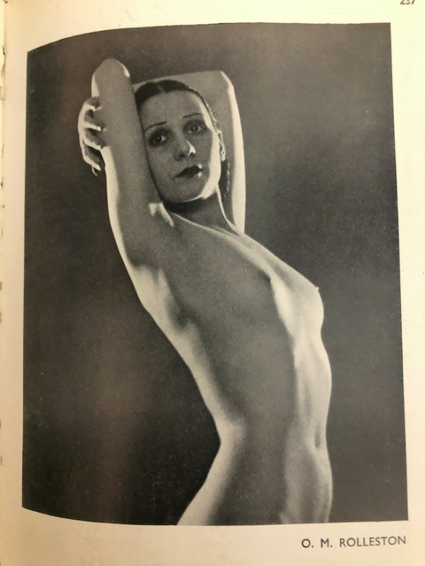 Vintage nude photo By O.M. Rolleston