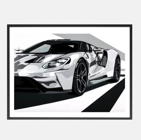 Joel-Ford_GT40_Shelby_art-schilderij_kunst