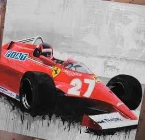Villeneuve ferrari 1981 F1