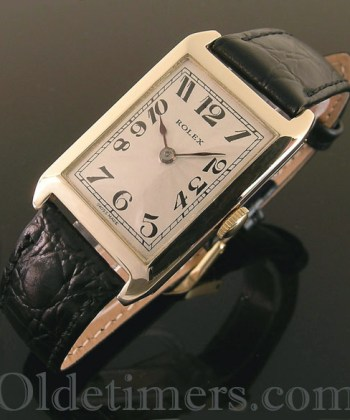 1920s 9ct gold rectangular vintage Rolex watch (3613)