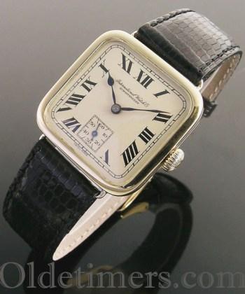 1920s 18ct gold vintage I.W.C. watch