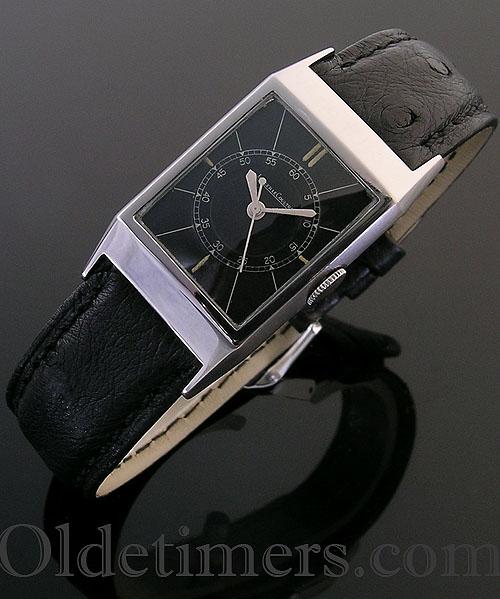 8959addae39b 1930s steel vintage Jaeger LeCoultre watch - Olde Timers