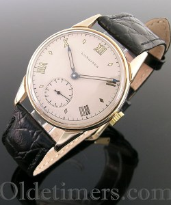 1940s 9ct gold vintage Longines watch (3524)
