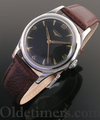 1940s steel vintage Longines watch (3687)