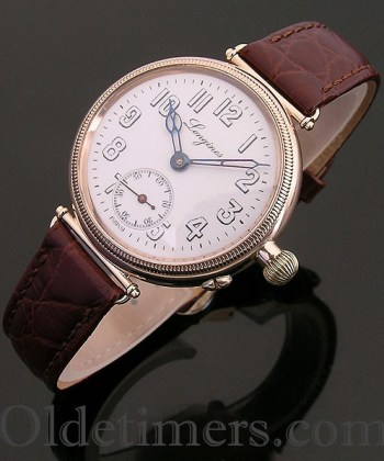 1915 9ct gold 'Borgel' vintage Longines 'Officers' watch (3760)