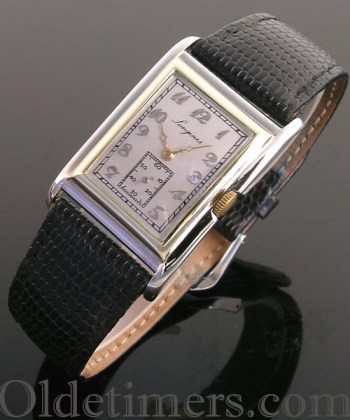 1920s 18ct two colour gold vintage Longines watch (3825)