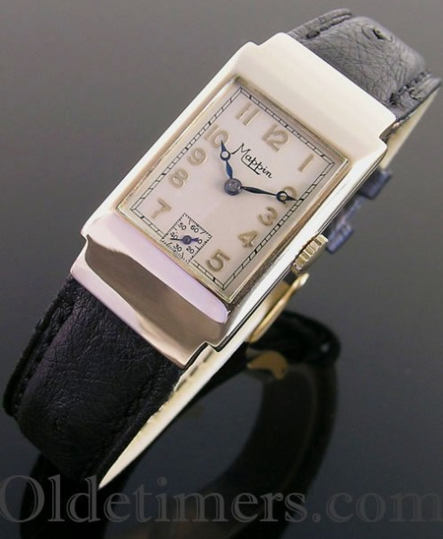 1930s 9ct gold rectangular vintage Mappin watch (3724)