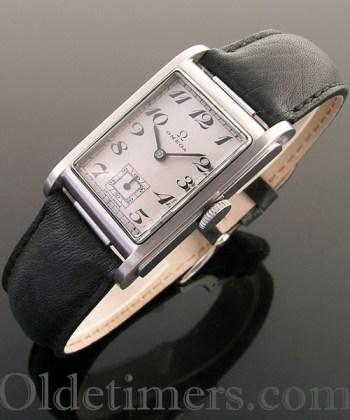 1930s steel vintage Omega 'Marine Standard' watch