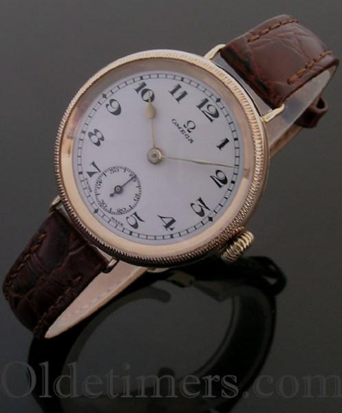 1920s 9ct rose gold vintage Omega watch (3738)