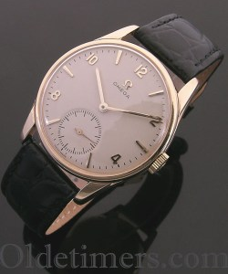 1960s 9ct gold round vintage Omega watch (3769)