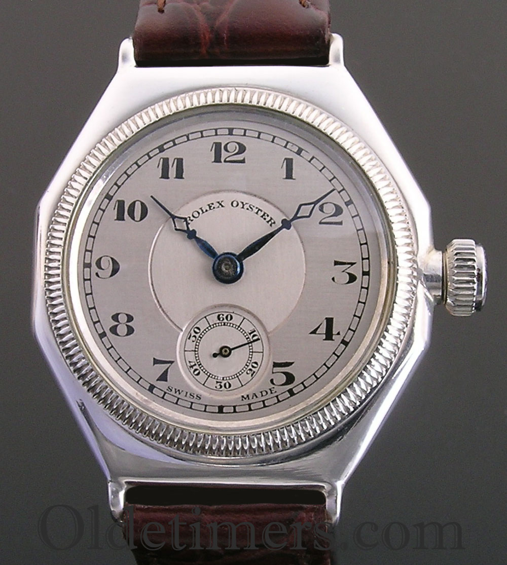 1920s silver octagonal vintage rolex oyster watch olde timers for Oyster watches