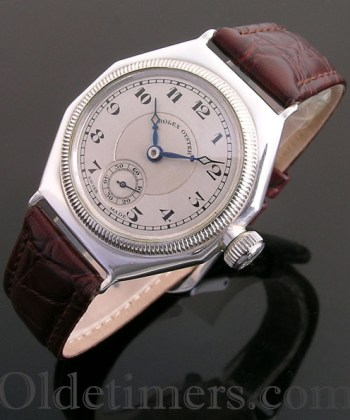 1920s silver octagonal vintage Rolex Oyster watch (2474)