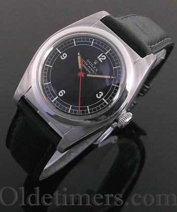1940s steel vintage Rolex Oyster 'Bubbleback' watch (3757)