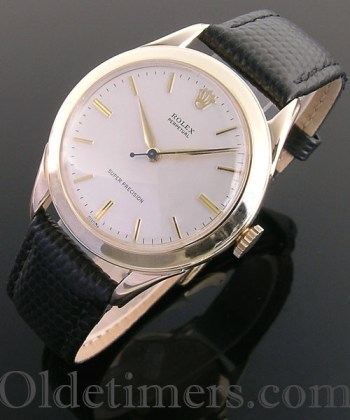 1950s 9ct gold vintage Rolex Perpetual Precision watch (3784)