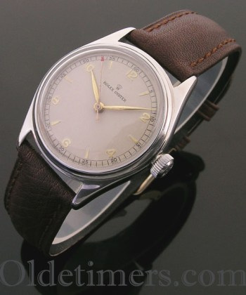 An early steel vintage Rolex Oyster watch,