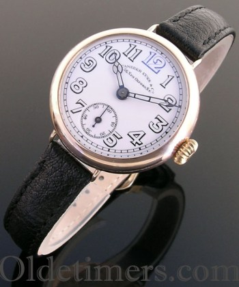 1920 9ct gold vintage Camerer Cuss watch (3403)