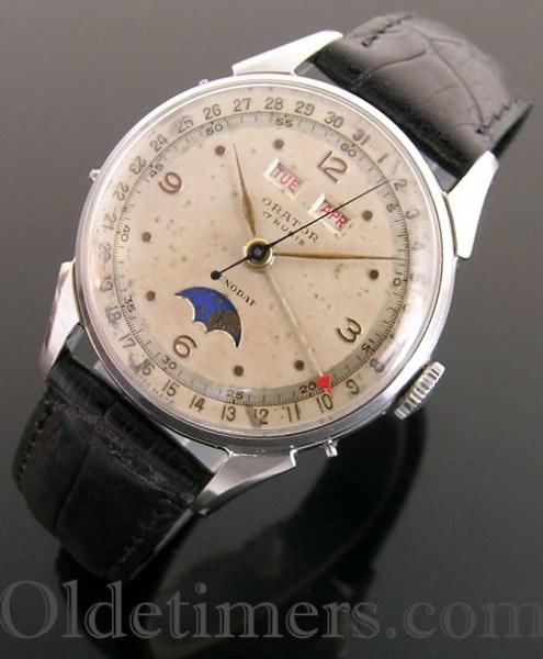1940s steel vintage Orator watch (3221)