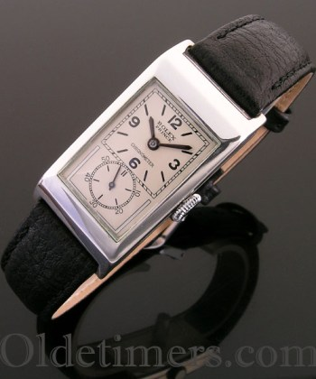 1930 silver vintage Rolex Prince watch