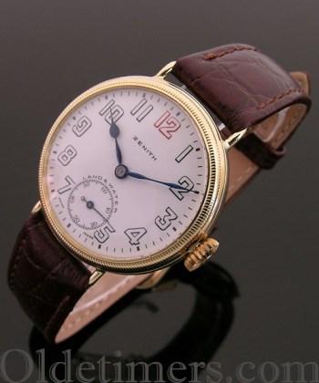 1920s 18ct gold vintage Zenith 'Land & Water' watch (3150)