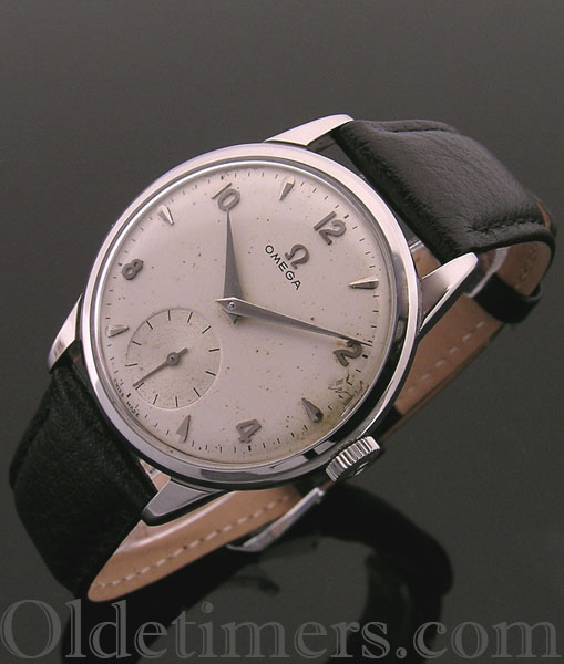 1950s steel round vintage Omega watch (3434)