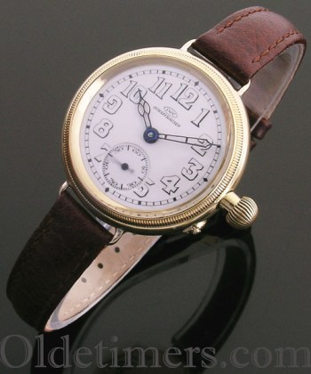 1919 18ct gold round vintage I.W.C. watch