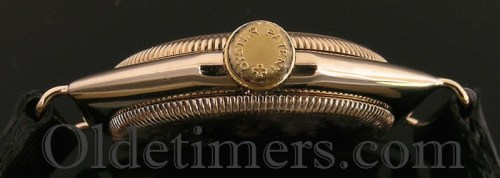 1930s 9ct gold octagonal vintage Rolex Oyster watch (3876)