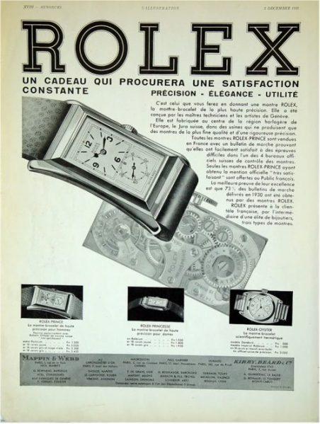 1930s 9ct gold vintage Rolex Prince Brancard watch