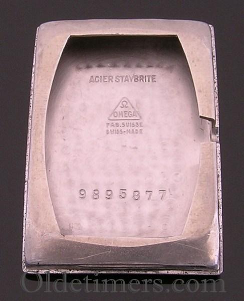 1940s steel rectangular vintage Omega watch